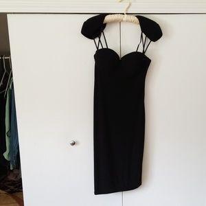ASOS size 8 midi black dress